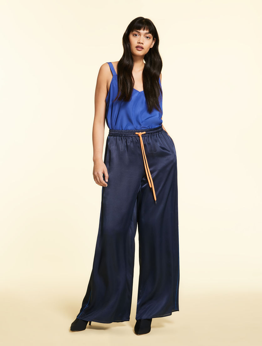Palazzo trousers in satin