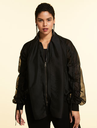 Bomber jacket in organza