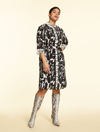 Crêpe de chine shirt dress