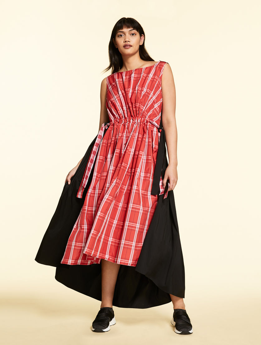 Checked taffeta dress
