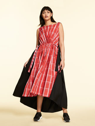 Checked taffeta dress