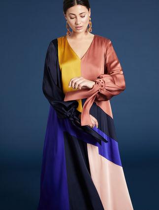 Vestido con bloques de color