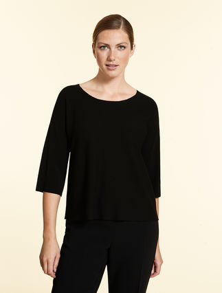 Opaque viscose sweater