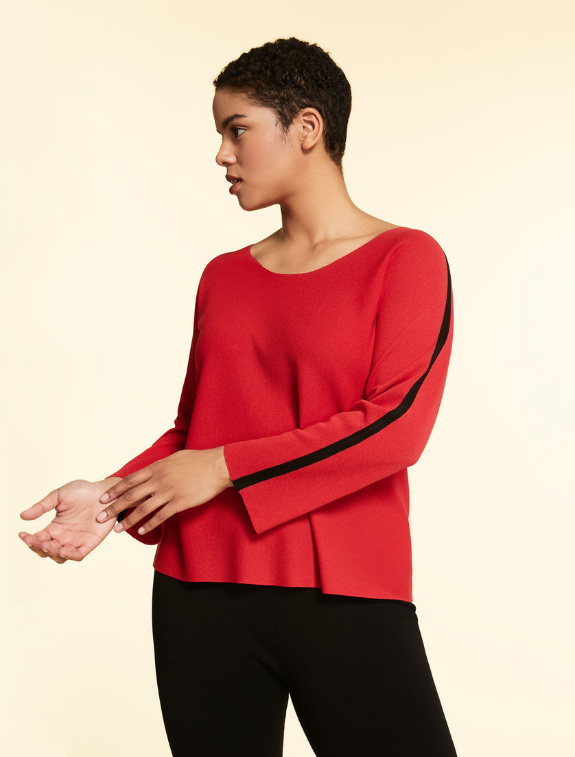 Opaque viscose sweater