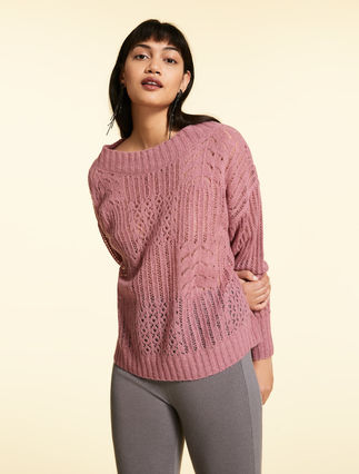 Sweater in lurex alpaca