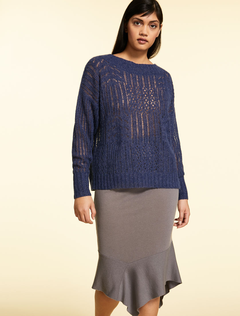Sweater in lurex alpaca