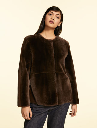 Sheepskin and nappa leather jacket