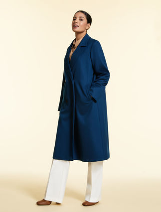 Cashmere broadcloth coat