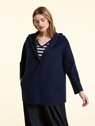 Wool and cashmere pea coat