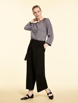 Trousers in tech wool