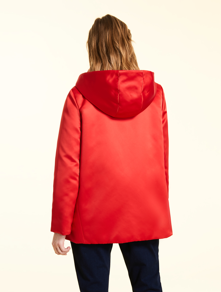 a169cc1ef3 Duchess satin down jacket , orange -