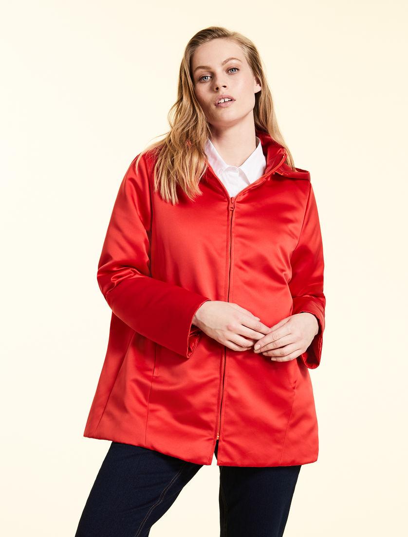 ae859efc25 Duchess satin down jacket, orange -