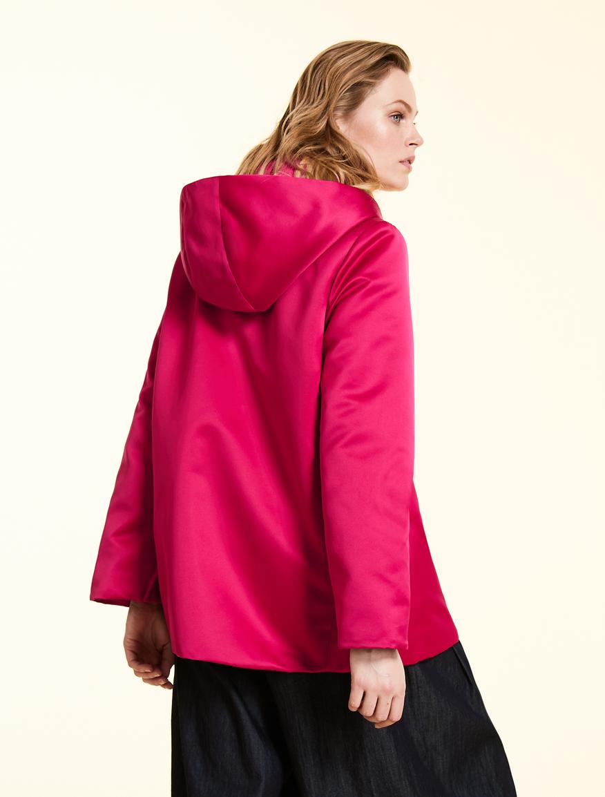 4c8bc6b5e4 Duchess satin down jacket , bordeaux -