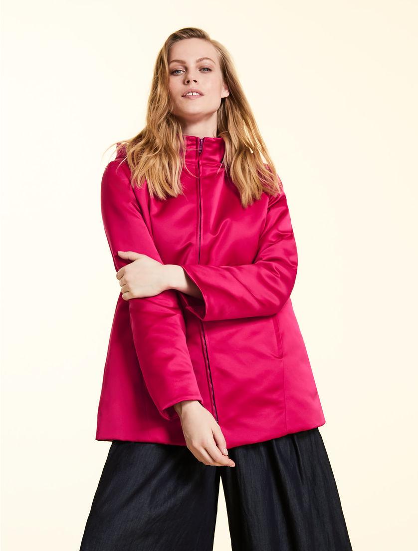 e51f6e09f5 Duchess satin down jacket, bordeaux -