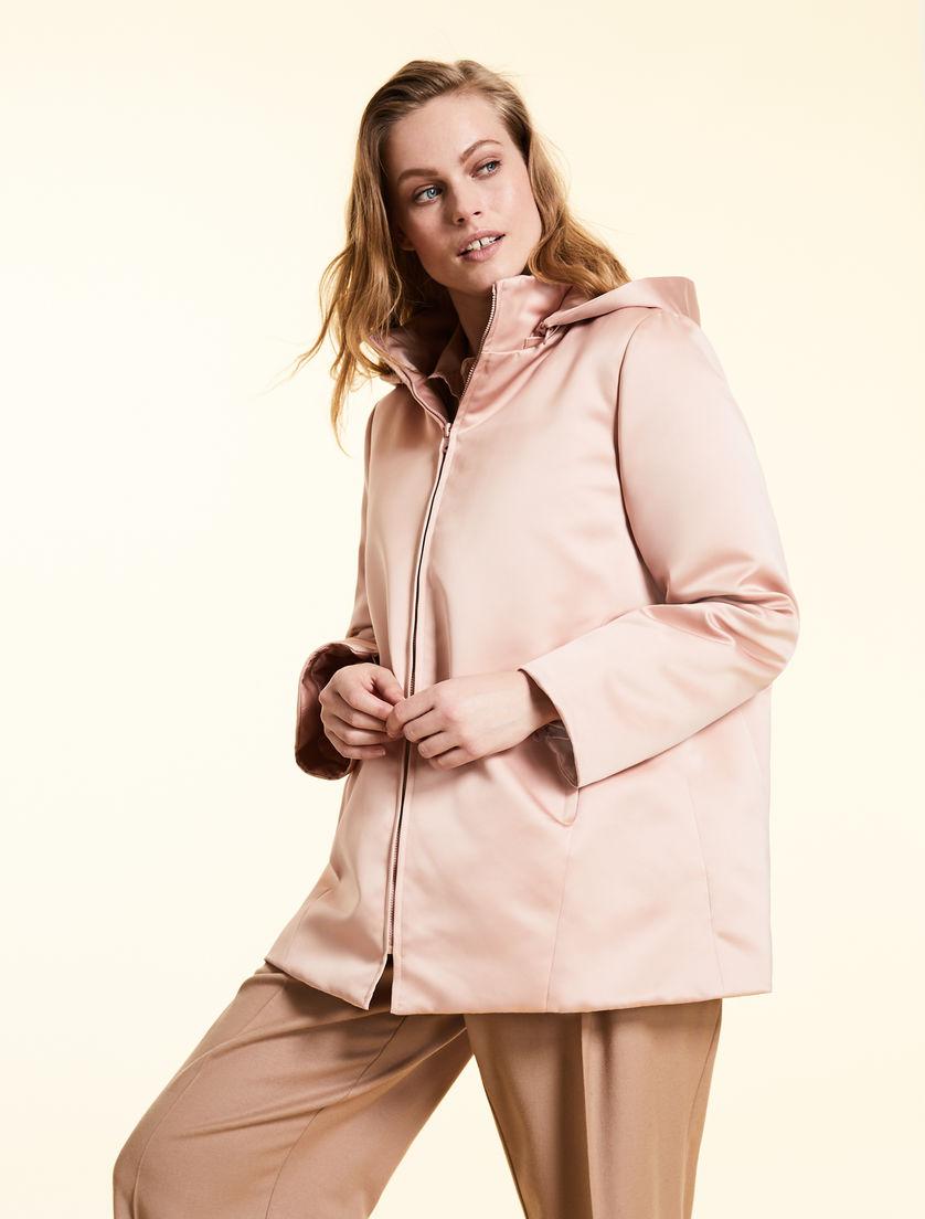 7f00bb85c0 Duchess satin down jacket, pink -