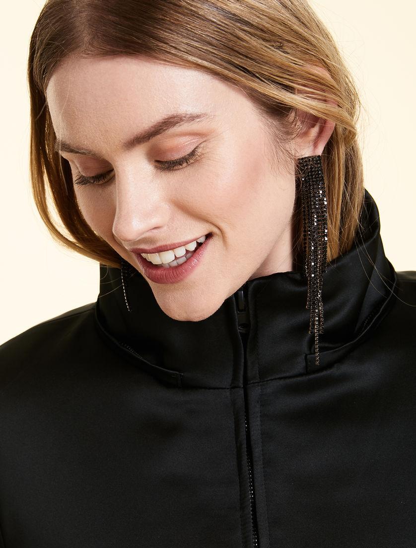 e663a4eb9e Duchess satin down jacket , black -