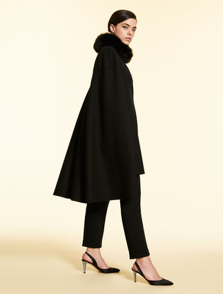 Wool and cashmere cloak