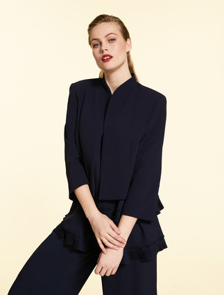 Cropped crêpe jacket