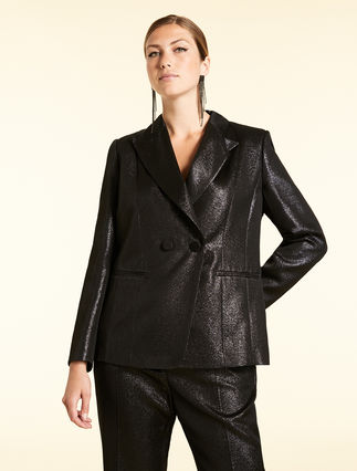 Lurex crêpe jacket