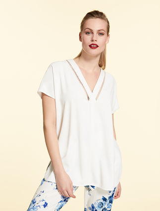 Envers satin crêpe tunic
