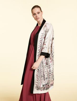 Satin duster coat