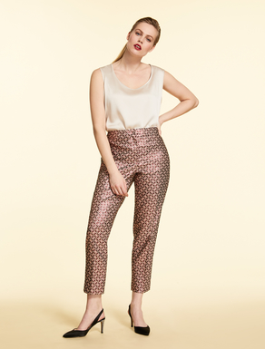 Lurex jacquard trousers