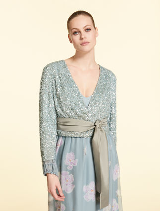 Tulle bolero with sequins
