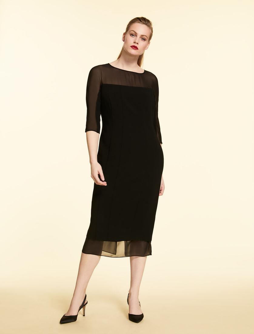 Triacetate and silk dress