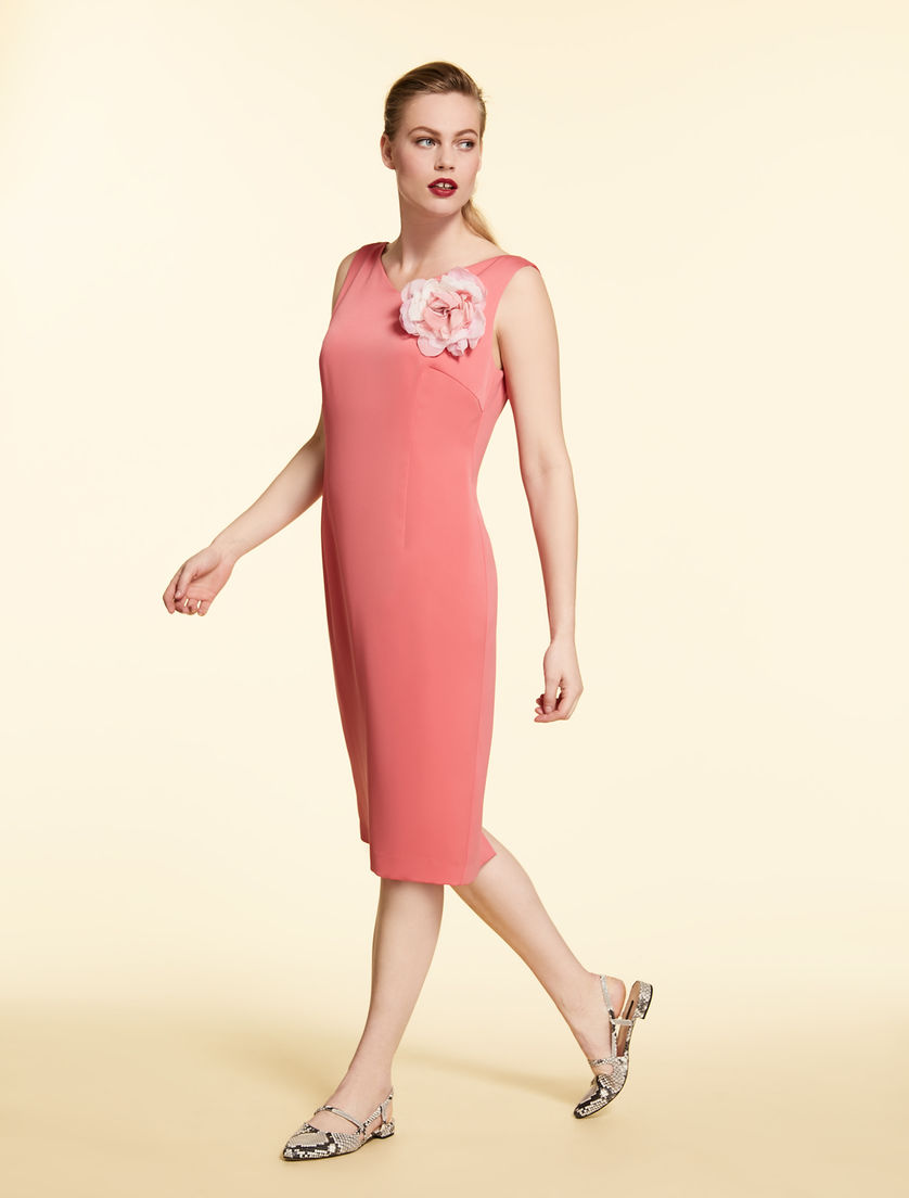 Georgette dress with tunic