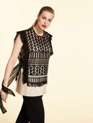 Lace tunic and pleated top
