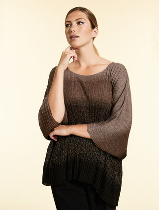 Viscose lurex sweater