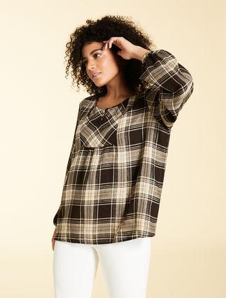Lurex gauze blouse
