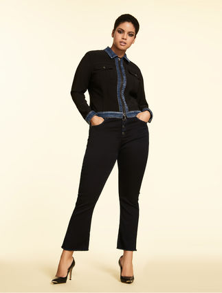 Jeans aus Satin-Denim