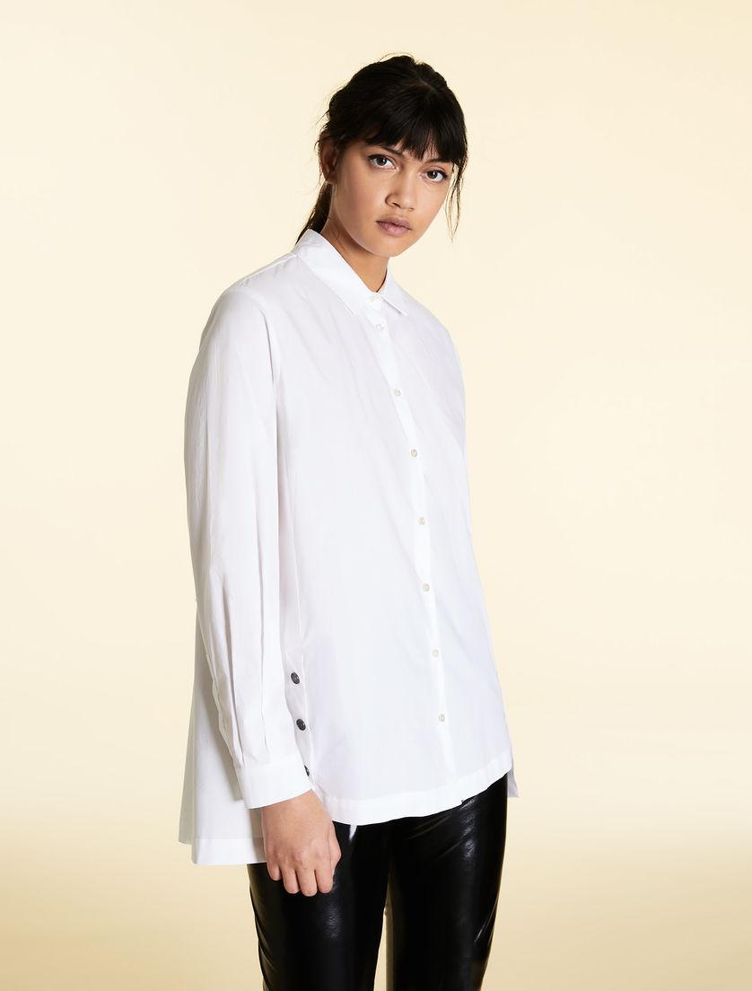 e13eaafa075d04 Cotton poplin blouse, white -