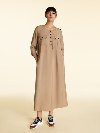 Viscose-blend dress