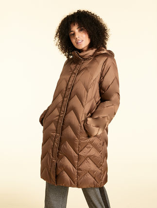 Down jacket in nylon gabardine
