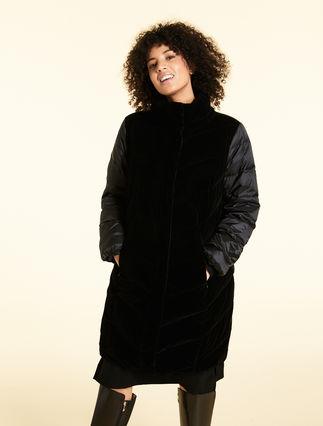 Velvet and gabardine jacket