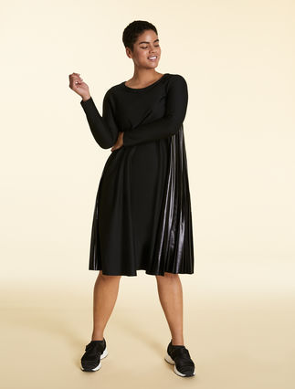 Cotton dress with inserts