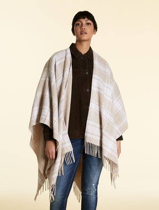Poncho in wool blend