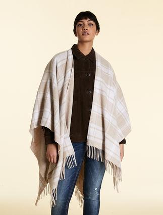 Poncho en mélange de laine