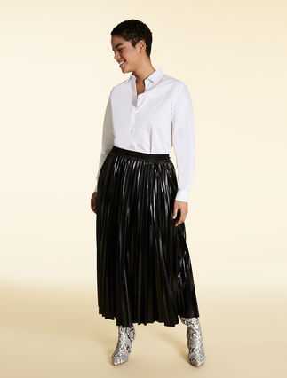 Lacquer effect skirt