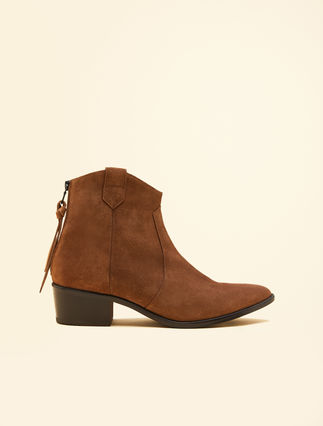 Bottines texanes en cuir