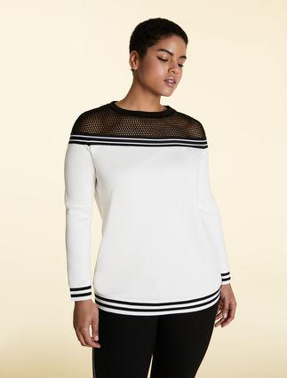Scuba jersey sweatshirt