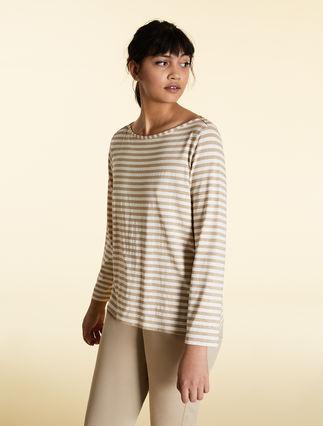 Jersey and lurex T-shirt