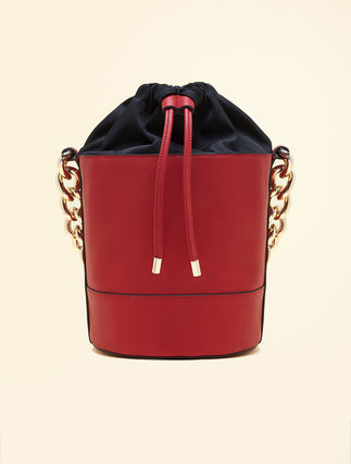 Faux-nappa leather bucket bag