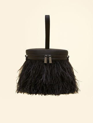 Feather bucket bag