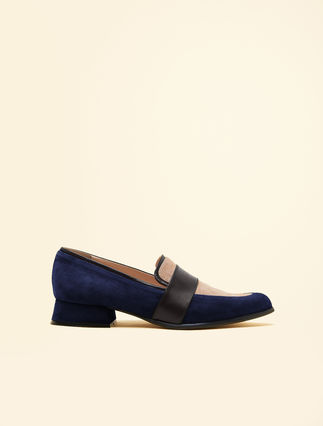 Colour block loafers
