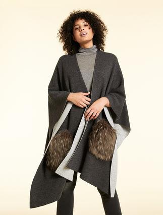 Cashmere blend cape