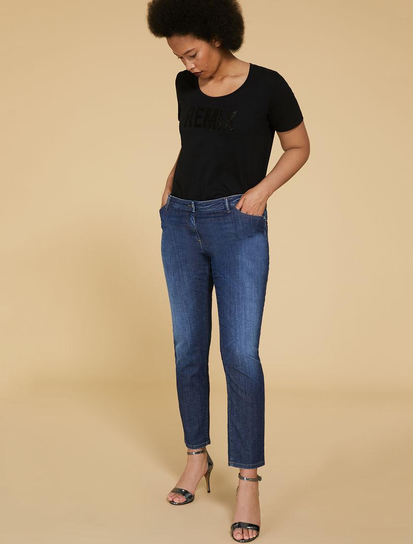 Marina Rinaldi Womens Wonder Fit Jeans Dark Wash