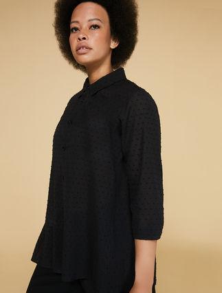 Jacquard muslin shirt